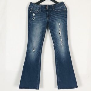 American Eagle Outfitters Distressed Flare Jeans